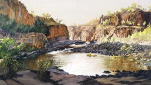 """""""Canoeing, Katherine Gorge"""""""